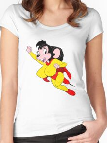 Mighty Mouse Women's Fitted Scoop T-Shirt