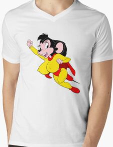 Mighty Mouse Mens V-Neck T-Shirt