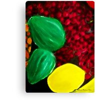 Colorful Bowl Of Fruit Two Canvas Print
