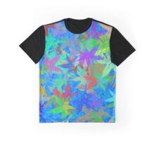 Autumn Leaves Blue Skies Graphic T-Shirt