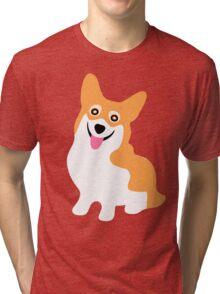 Corgi Smile Tri-blend T-Shirt