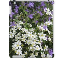 Lilac & White Floral iPad Case/Skin