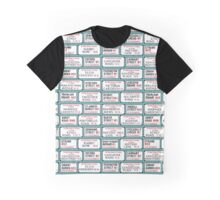 Famous London Street Signs Graphic T-Shirt