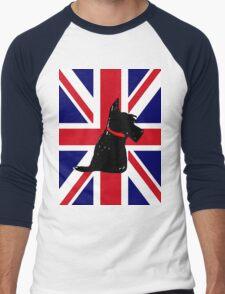 Scottie Dog Union Jack Men's Baseball ¾ T-Shirt