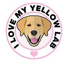 Love My Yellow Lab Photographic Print