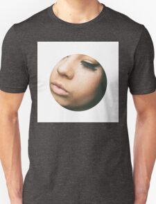Cropped Face Pink t-shirt  Unisex T-Shirt