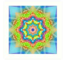 The Candy Star Kaleidoscope Art Print