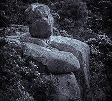 Granite Buddha by Bette Devine
