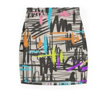 Playful scribbles Mini Skirt