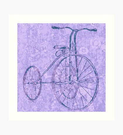 Blue Tricycle Art Print