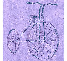 Blue Tricycle Photographic Print