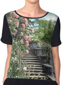 Wonderfully Welsh Floral Steps Chiffon Top