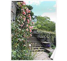 Wonderfully Welsh Floral Steps Poster