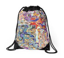 Abstract Glass Blocks Drawstring Bag