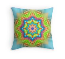 Decorative Colourful Kaleidoscope Star Throw Pillow