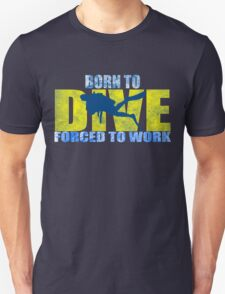 funny diving shark divers Unisex T-Shirt