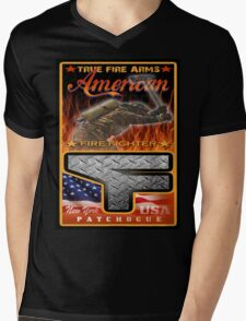 fireman Mens V-Neck T-Shirt