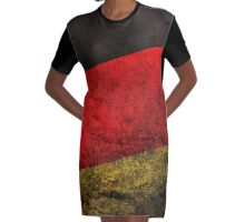 Germany Flag Graphic T-Shirt Dress