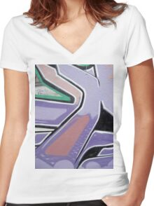 Urban 24 Women's Fitted V-Neck T-Shirt