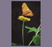 Yellow Butterfly on Yellow Flower Kids Clothes