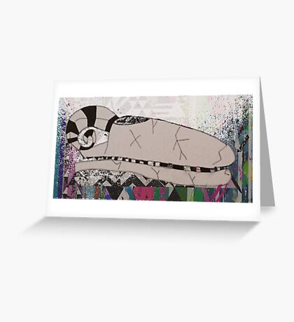 Artistic Animal Skull Greeting Card