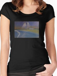 Road at night Women's Fitted Scoop T-Shirt