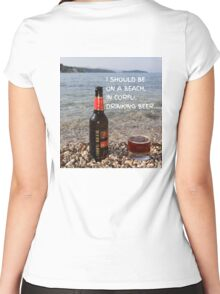 CORFU BEER Women's Fitted Scoop T-Shirt