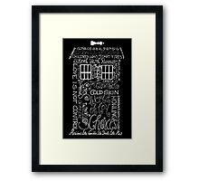 To Kill A King - Songs - Black Edition Framed Print