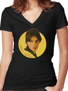 Marie Laforet wonderful design! Women's Fitted V-Neck T-Shirt