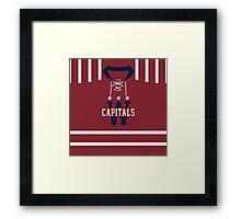 Washington Capitals 2015 Winter Classic Jersey Framed Print