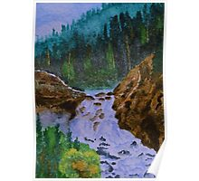 Color at Firehole Falls Poster