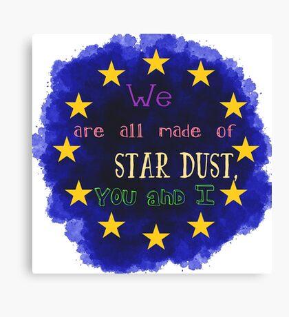 Europe - a star chart Canvas Print