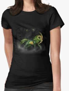 Night Stalker Goat Womens Fitted T-Shirt