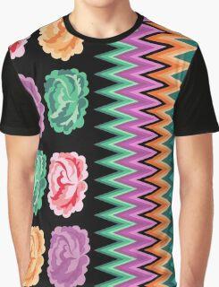 CHEVRON ROSES Graphic T-Shirt