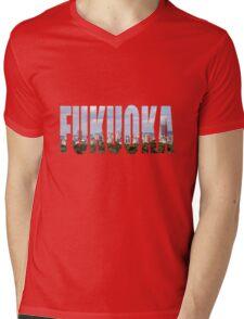 Fukuoka Mens V-Neck T-Shirt