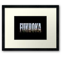 Fukuoka Framed Print