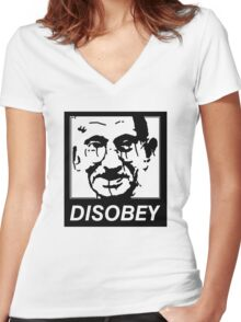 Gandhi DISOBEY Women's Fitted V-Neck T-Shirt