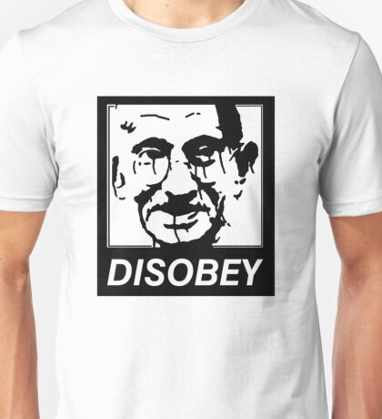 Gandhi DISOBEY Unisex T-Shirt