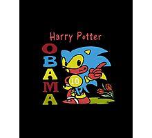 Sonic Harry Potter Obama Photographic Print