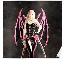 Pink batgirl Poster