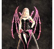 Pink batgirl Photographic Print