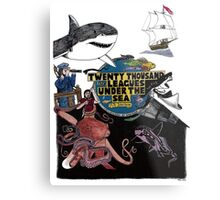 """""""20,000 Leagues under the Sea"""" The Graphic Novel  Metal Print"""