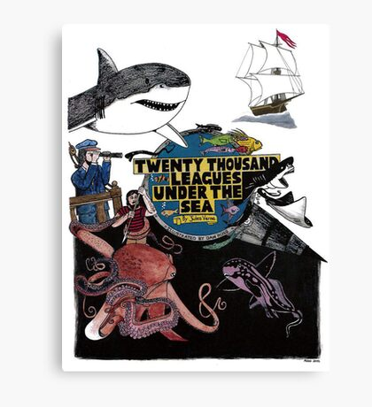 """""""20,000 Leagues under the Sea"""" The Graphic Novel  Canvas Print"""