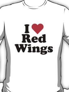 I Heart Love Red Wings T-Shirt