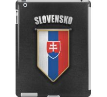 Slovakia Pennant with high quality leather look iPad Case/Skin