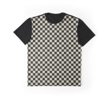 Grunge Checkerboard Graphic T-Shirt