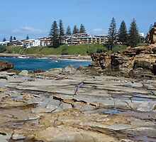 Rock formations, Clarence Head, Yamba by Gregory Hale