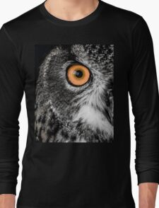 An Owl's Stare Long Sleeve T-Shirt