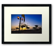 Sun rises over the Dead Sea, Israel  Framed Print