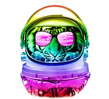 Cool Space Tiger  Photographic Print